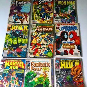 28 Vintage Comic Books DC Marvel Spider-man Hulk